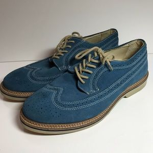 1901 Nordstrom's Blue Suede Shoes Size 8 1/2